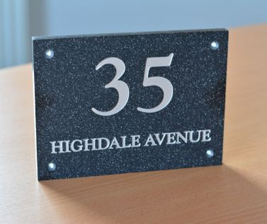 Quartz Effect House Nameplate