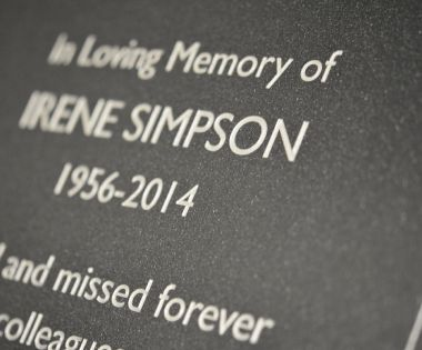 Granite Effect Memorial Wall Plaque