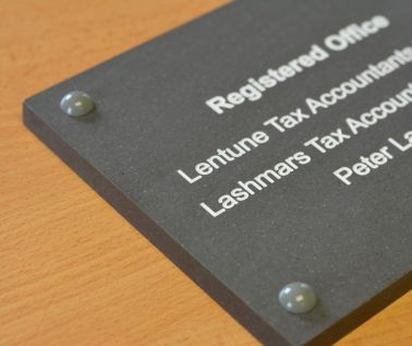 Slate Effect Business Plaque