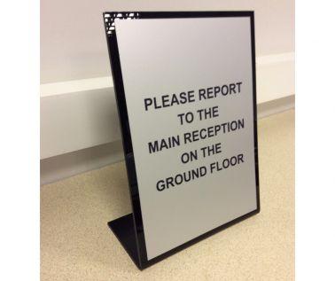 Free Standing Desk/Concierge Sign