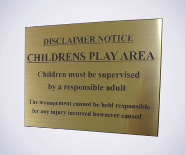 Children's Play Area Notice
