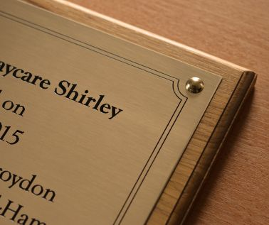 Brass Commemorative Tree Plaque
