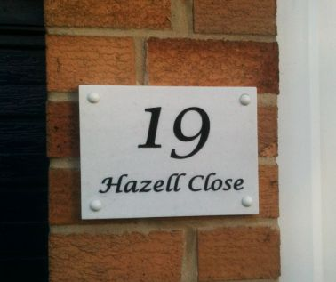 Marble Effect House Nameplate