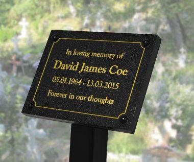 Quartz Effect Memorial Tree Plaque