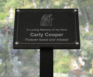 Granite Effect Commemorative Tree Plaque