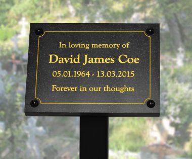 Quartz Effect Commemorative Tree Plaque