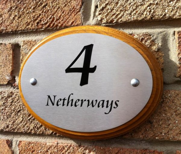 4 netherways stainless steel house nameplate