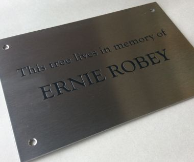 Stainless Steel Memorial Wall Plaque