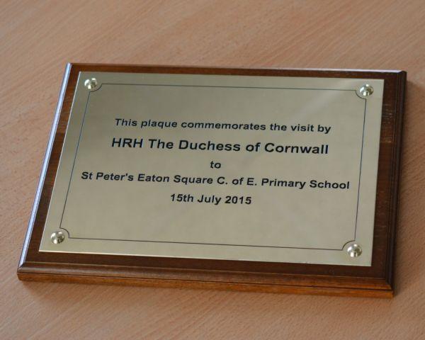 St Peters Commemorative brass plaque