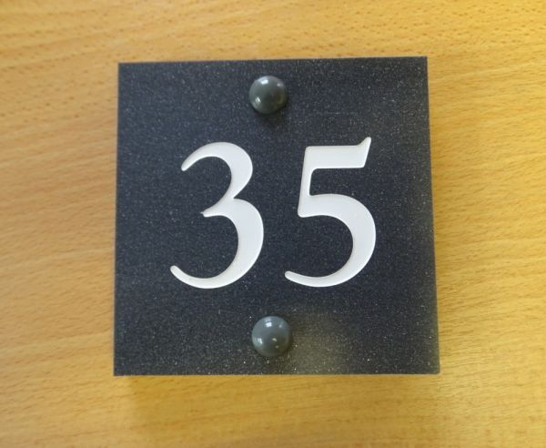 35 - granite house nameplate