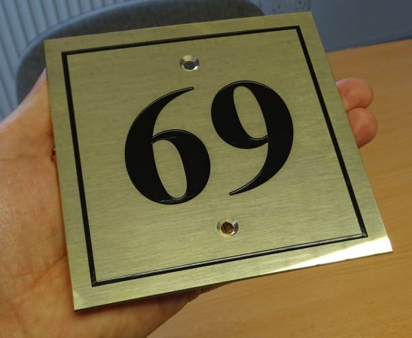 69 - brass house nameplate
