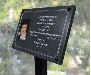 Granite Effect Memorial Photo Plaque