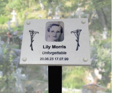 Marble Effect Memorial Photo Plaque