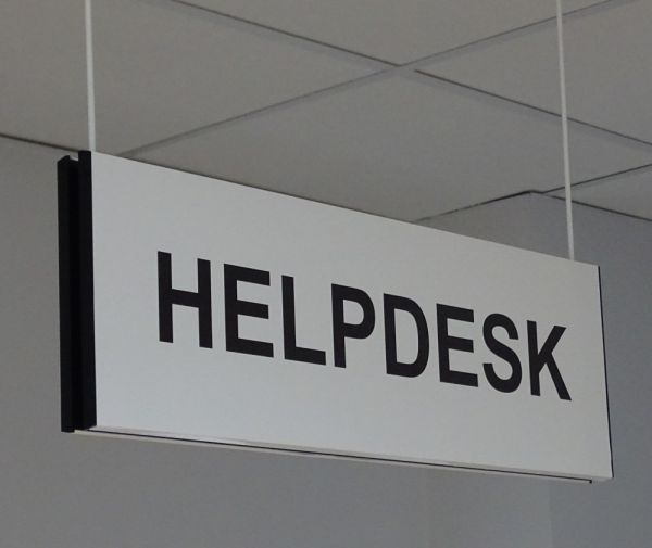 Help Desk Hanging Sign