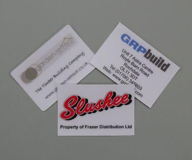 Anti Scratch PVC Labels 75mm x 50mm