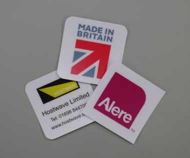 Anti Scratch PVC Labels 85mm x 85mm