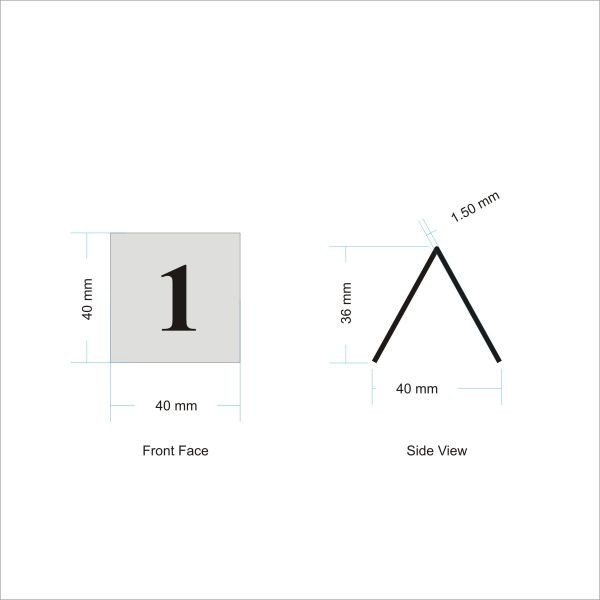 Tent Shaped Numbers Bar Signs Hotel Signs Pub Signs - Restaurant table number signs