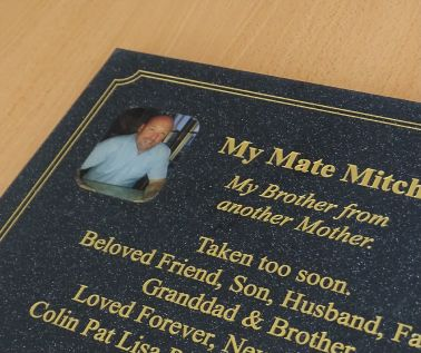 Quartz Effect Memorial Photo Plaque