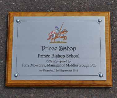 Stainless Steel Commemorative Wall Plaque