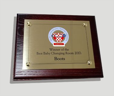 Brass Commemorative Wall Plaque