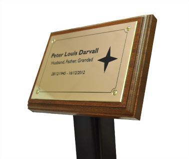 Brass Memorial Tree Plaque