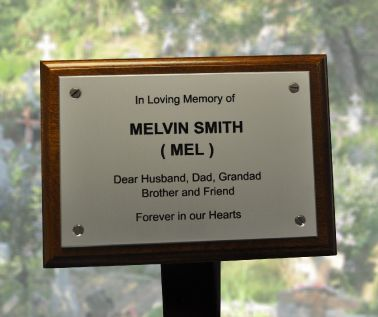 Aluminium Memorial Tree Plaque