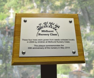 Aluminium Commemorative Tree Plaque