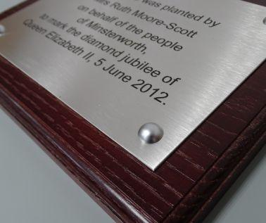 Stainless Steel Commemorative Tree Plaque