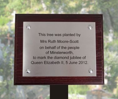 Stainless Steel Commemorative Tree Plaque