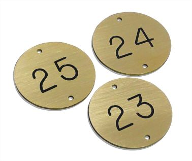 Brass Table Numbers - 50mm