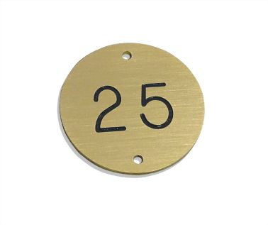 Brass Table Numbers - 30mm