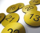 brass effect table numbers