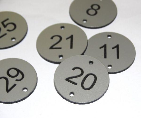 Aluminium effect table numbers