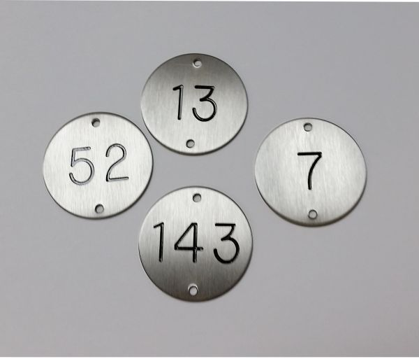 Stainless Steel Table Numbers Bar Signs Hotel Signs Pub Signs - Stainless steel table numbers