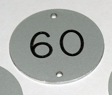 Aluminium Table Numbers - 30mm