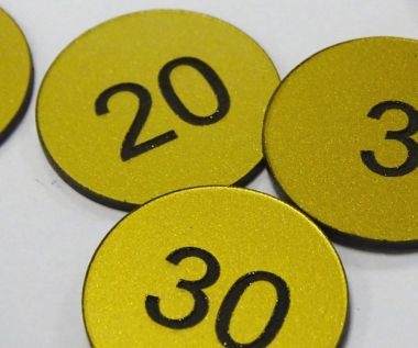 Brass Effect Table Numbers - 70mm