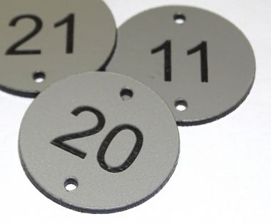 Aluminium Effect Table Numbers  - 70mm