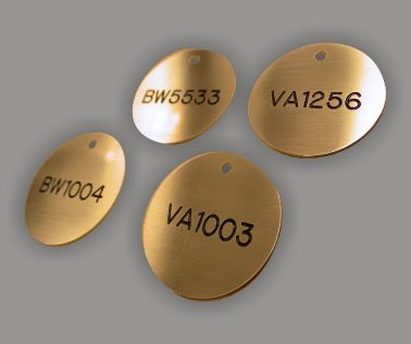 Brass Valve and Tag Labels - 50mm Diameter