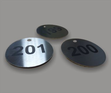 Stainless Steel Valve and Tag Labels - 40mm Diameter
