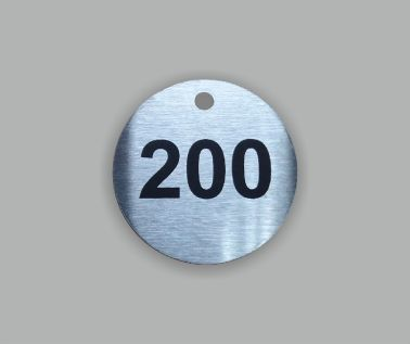 Stainless Steel Valve and Tag Labels - 30mm Diameter