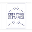Social Distancing Stencil   keep your distance   outline