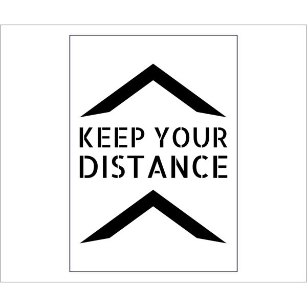 Social Distancing Stencil   keep your distance