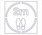 Social Distancing Stencil   Keep 2m apart & footprint   outline