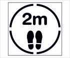 Social Distancing Stencil   Keep 2m apart & footprint