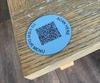 Matte Aluminium Effect QR Code Table Discs (1)   70mm