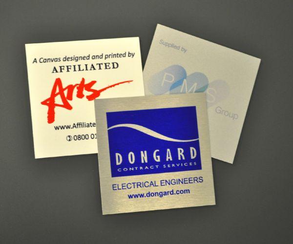 Aluminium Dye Sub Labels 75mm x 75mm