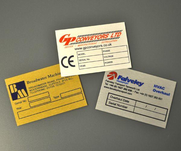 Aluminium Dye Sub Labels 75mm x 50mm