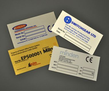Aluminium Dye Sub Labels 100mm x 50mm