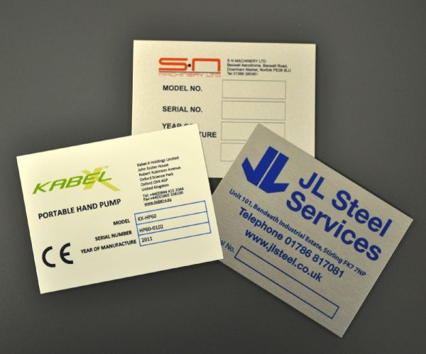 Aluminium Dye Sub Labels 200mm x 150mm