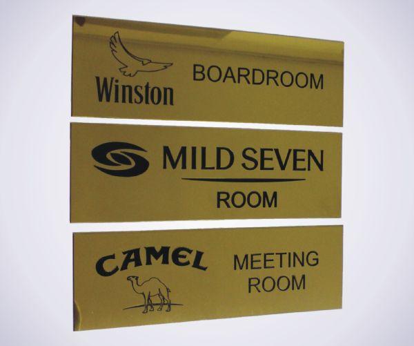 Brass Door Signs